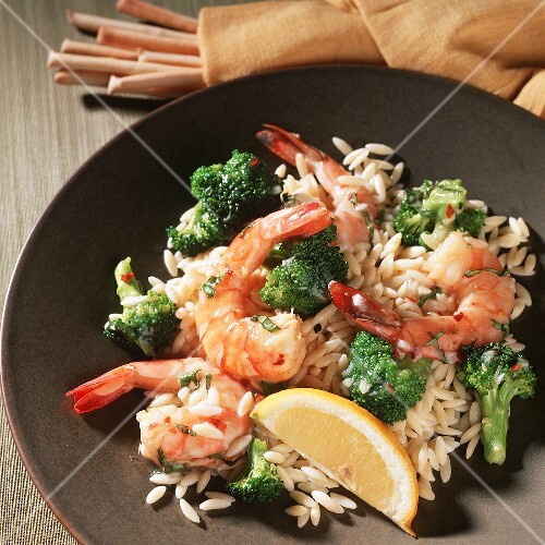 Shrimp Scampi with Broccoli and Orzo