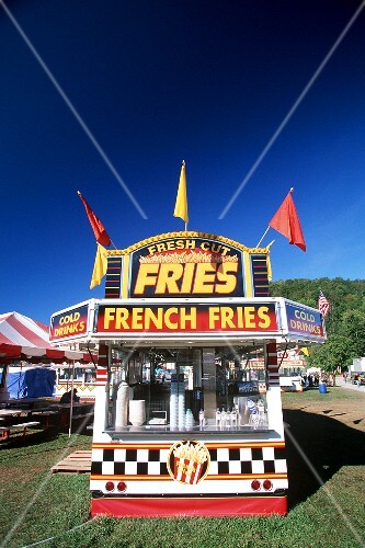 French Fry Stand at a Vermont Fair