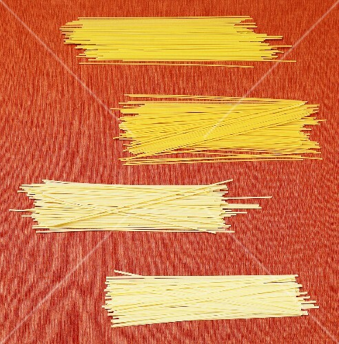 Four Piles of Assorted Spaghetti