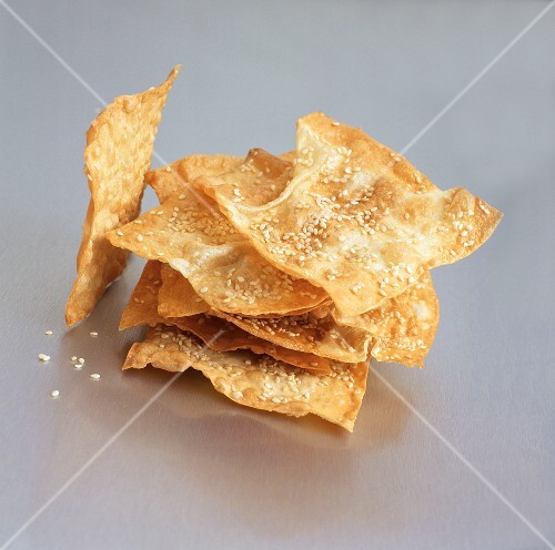 Wonton Sesame Crisps