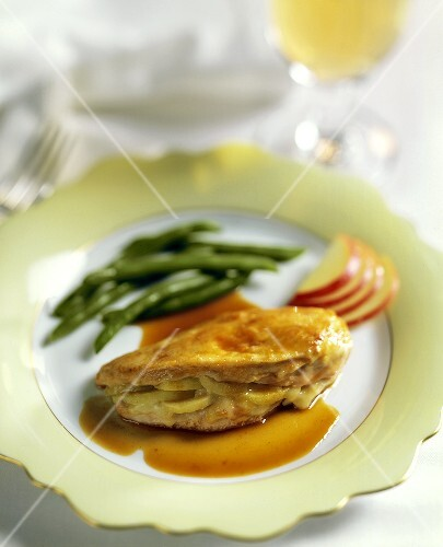 Chicken Breast Stuffed with Apples and Brie Cheese