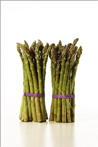 Two Tied Bundles of Asparagus