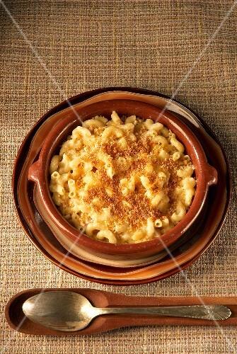 Macaroni and Cheese, überbacken