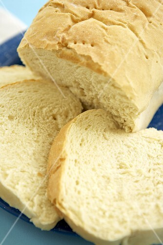 Partially Sliced Loaf of Homemade Amish Bread