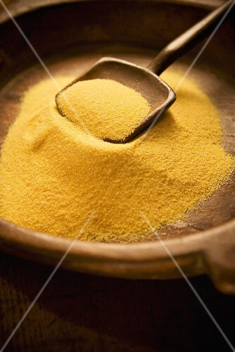 Polenta in a Bowl with Scoop