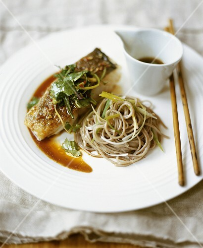 Asian Fried Salmon with Soba Noodles
