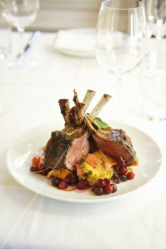 Roasted Rack of Lamb with Winter Squash