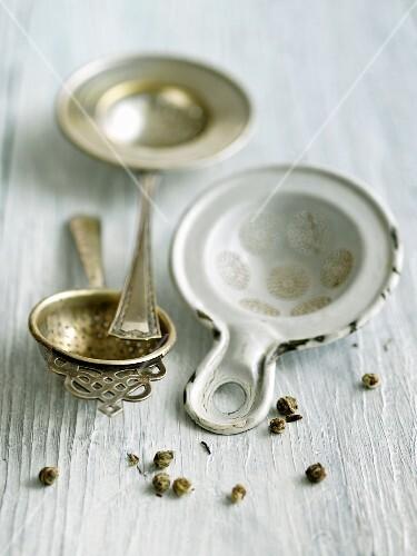 Jasmine Tea Pearls with Antique Strainer