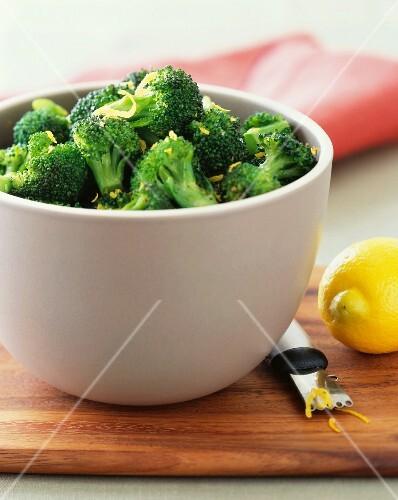 Broccoli with lemon zest